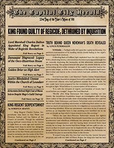 Vondara - The Capital City Herald 23rd Day of the Elder's Moon, 1116